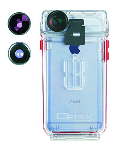Optrix Waterproof Action Camera Case + 2 Lens Kit for iPhone 6/6s Clear 9476702 [FT111205]
