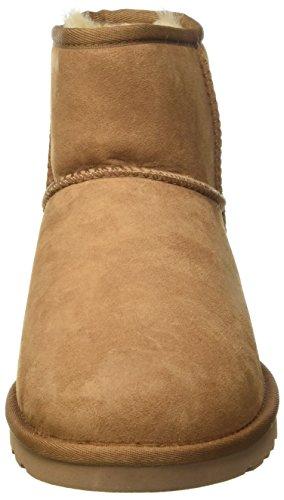 UGG Mini Scarpe Alto Donna Classic Chestnut Rustic Marrone Weave a Australia Collo rxw6RXr