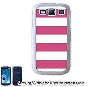 Pink Cabana Stripes Pattern Samsung Galaxy S3 i9300 Case Cover Skin White