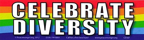 Celebrate Diversity - Magnetic Bumper Sticker / Decal Magnet (10.5