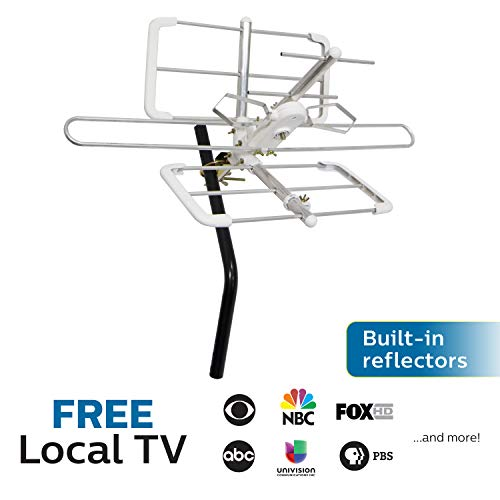 Philips Attic TV Antenna, Outdoor, Long Range Antenna, Reflector, Digital, HDTV Antenna, 4K 1080P VHF UHF, SDV3427W/27 ()