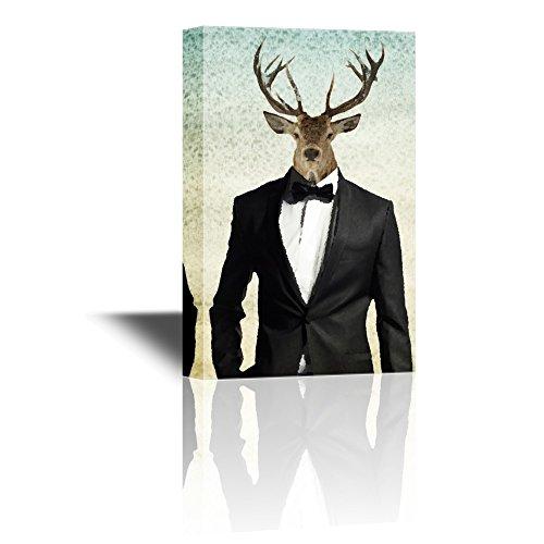 wall26 Mr Animal Series Canvas Wall Art - Mr Deer in Suit -