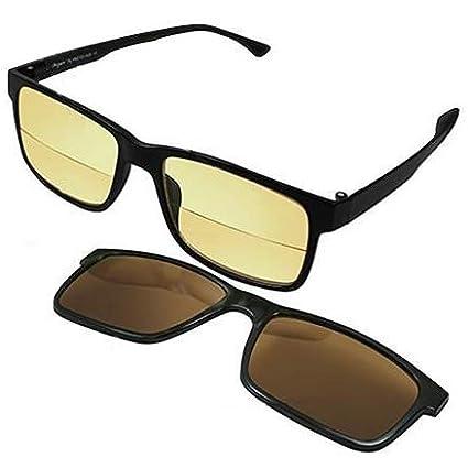 Gafas de lectura contra luz azul con clip solar - Lecturas ...