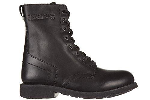 Bikkembergs Leder Stiefeletten Boots Herren vintage 468 dyed Schwarz