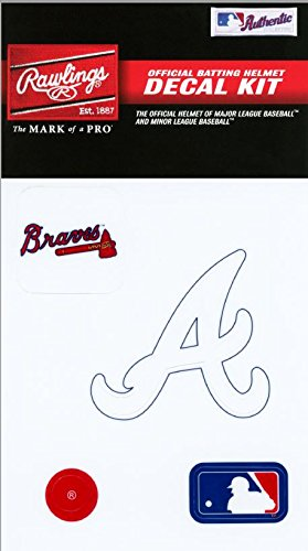 Decal Braves Atlanta Mlb (Rawlings Sporting Goods MLBDC Decal Kit, Atlanta Braves)
