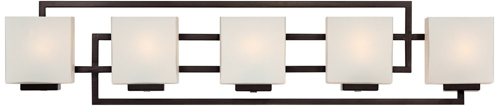 Lighting on the Square Bronze 37'' Wide Bath Wall Light by Possini Euro Design