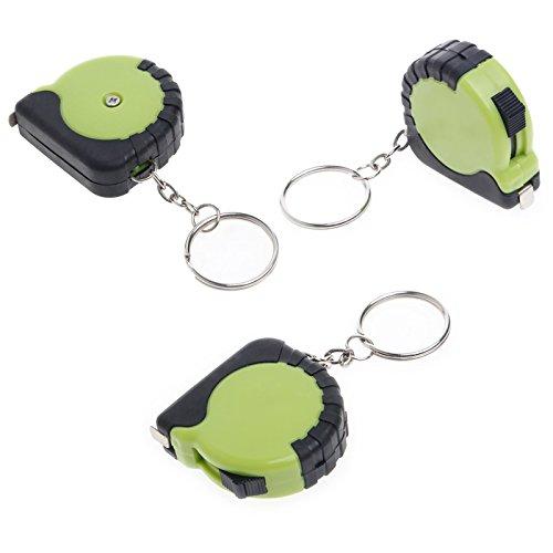 Techinal 3Pcs Plastic Portable Mini Tape Measure with Key Chain 1M Retractable Ruler cm/Inch