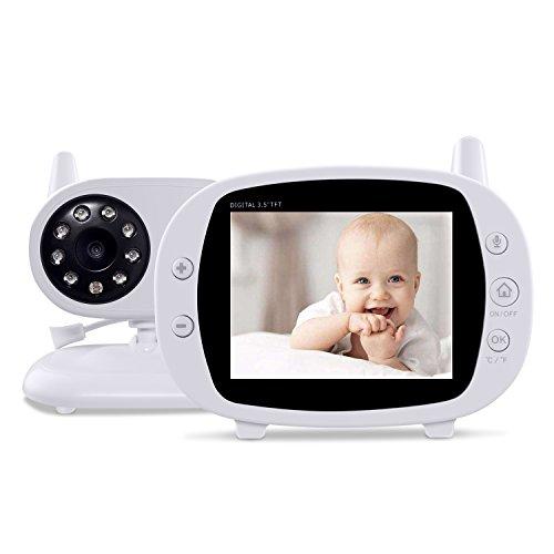 "3.5"" Video Baby Monitors with Camera Home Night Vision,ECO Mode,Two Way Talk Temperature Sensor Monitoring"