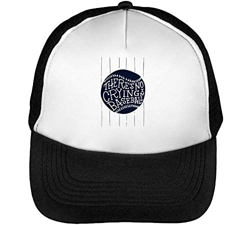 Beisbol Hombre Funny No Blanco Negro In Crying Baseball Gorras Snapback There'S S81qwgHcx