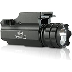Rechargable Tactical LED Gun Flashlight With Quick Release 300 Lumens DT-M1 Model by DefendTek