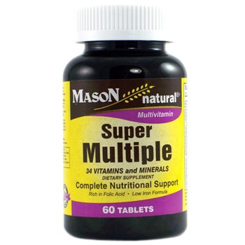 Mason Vitamins Super Multiple 34 Vitamins and Minerals Tablets, 60 Count