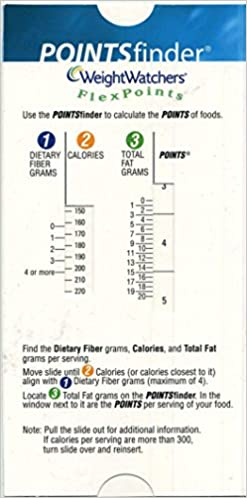 Weight Watchers Pointsfinder Flexpoints Cardboard Slide Calculator