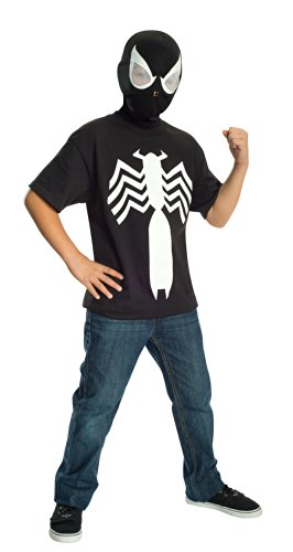 Rubie's Ultimate Black Spider-man / Venom T-shirt and Mask, Child Small - Child Small One Color (Mens Black Spiderman Costume)