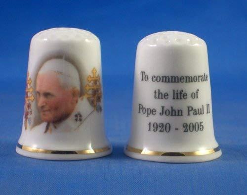 Porcellana cinese collezione ditale Papa Paul Birchcroft China