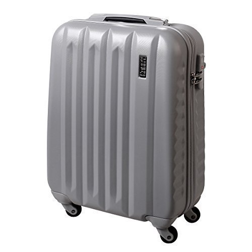 Handgepäck Hartschalen Koffer TSA Schloss Trolley 30 Liter Silber 811
