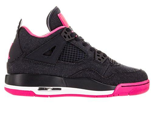 Jordan Nike Kids Air 4 Retro Gg Basketbalschoen Donker Obsidiaan / Goud / Roze / Wit