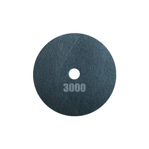 Tornado Pad - Double Sided Diamond Floor Polishing Pad (17'', Black - 3000 Grit) by Concrete Floor Supply
