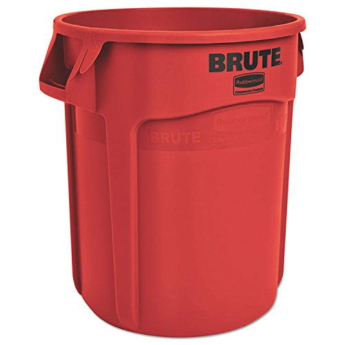 Rubbermaid Commercial - Round Brute Container, Plastic, 20 Gal, Red, 6/Carton