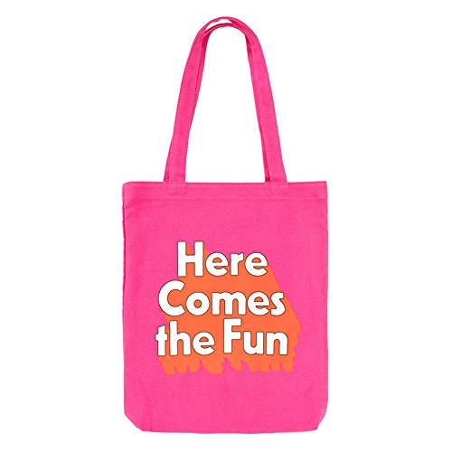 ban.do 'Here come the fun' Pink Canvas Tote Bag
