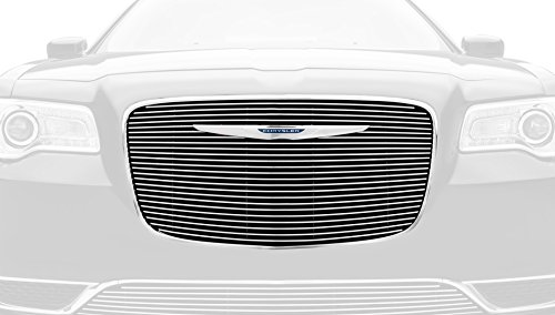 (T-Rex Grilles 21436 Polished Overlay Billet Grille for Chrysler)