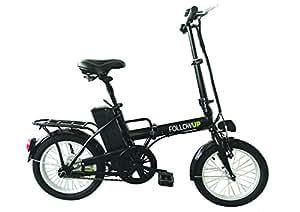 FOLLOW UP E05 Bicicleta eléctrica plegable para adulto, color negro