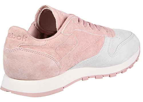 Reebok Classic Leather Nbk, Zapatillas Para Mujer rosa gris