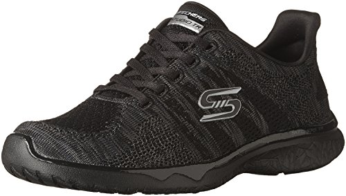 Women's Sport Black Studio Virtual Skechers Burst Reality Sneaker Fashion 5TRqaq