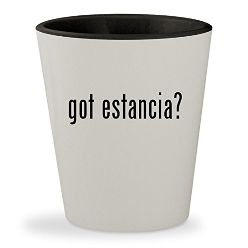 got estancia? - White Outer & Black Inner Ceramic 1.5oz Shot Glass (Wine Chardonnay Estancia)