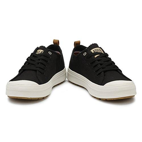 Sub Schwarz Herren Lily Sneaker Low Weiß Palladium Canvas CqRfwzx55