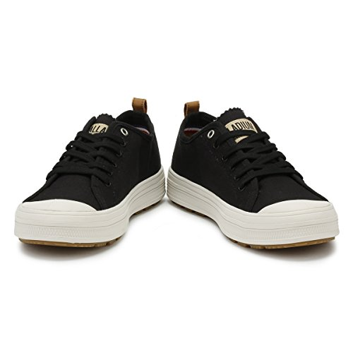Bianco Sub Uomo Nero Lily Canvas Low Palladium Sneaker cfwqB404d