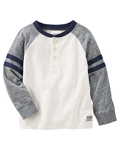 OshKosh B'Gosh Big Boys' Long Sleeve Raglan Henley