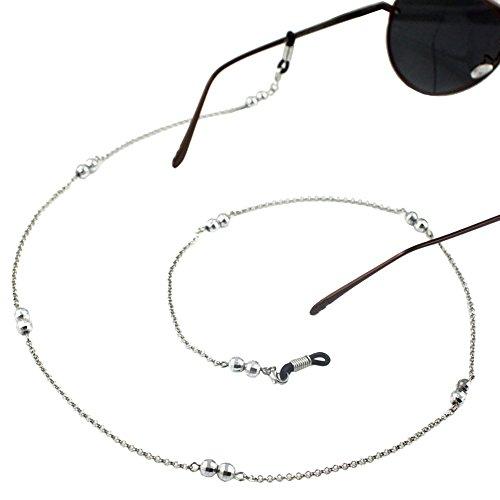 Ababalaya Vintage Strap Anti-Skid Small Gold Bead Metal Sunglasses Thin - Sunglasses Trap