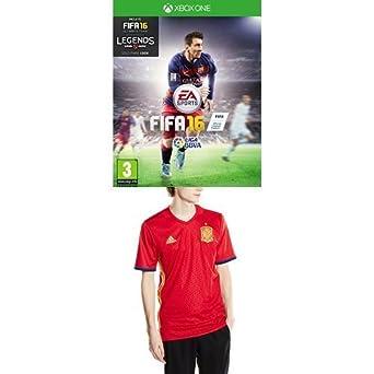 FIFA 16 - Standard Edition + 1ª Equipación Selección Española de Fútbol Euro 2016 - Camiseta oficial adidas, talla XL Authentic: Amazon.es: Videojuegos