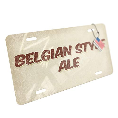 NEONBLOND Belgian Style Ale Beer, Vintage Style Aluminum License Plate ()