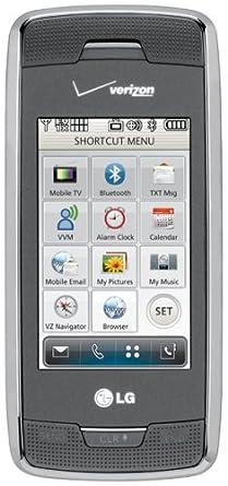 Amazon. Com: lg voyager vx10000 phone, titanium (verizon wireless.