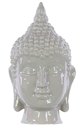 Buddha Head Garden (Urban Trends Ceramic Buddha Head Decor, Gloss Mocha)