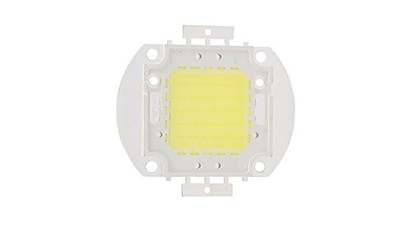 Granos ligeros eDealMax DC 30-35V 50W LED de alta potencia SMD chip refresca blanco para el bulbo del reflector - - Amazon.com