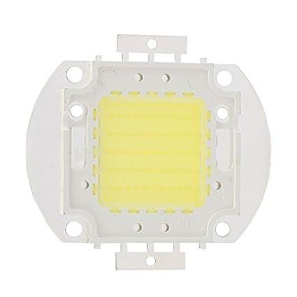 Granos ligeros eDealMax DC 30-35V 50W LED de alta potencia SMD chip refresca blanco