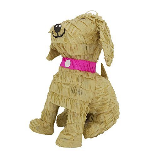 LYTIO – Golden Retriever Dog with with Pink Collar Pinata (Piñata) Ideal for Animal Parties, Center Piece, Photo Prop and Décor by LYTIO