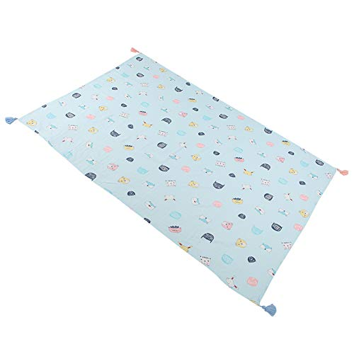Baby Bath Towel, Baby Blanket, Cotton Material Washcloth, Infant Shower Towel, Breathable Soft Touch Durable Baby for Newborn(Blue Fox, 110158cm)