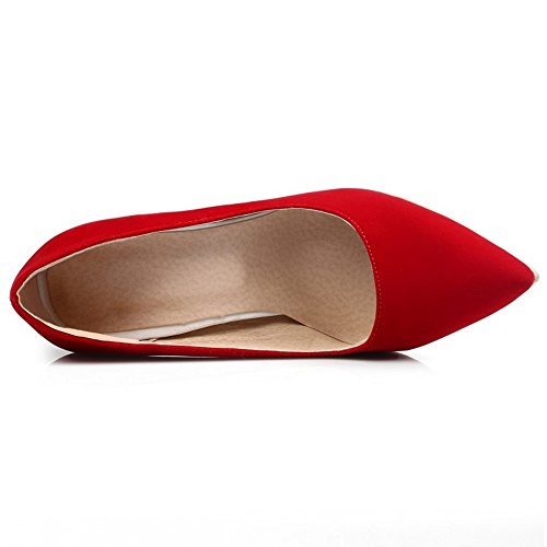 TAOFFEN Slip On Elegante Damenmode Spitzschuh Rot Schuhe Gericht SU Kleid Stiletto rIqZrT