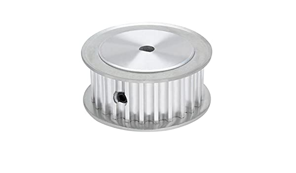 SOURCING MAP Aluminio 20 dientes 8mmx7mm D-Forma Aburrir 16mm Correa dentada Idler rueda de polea