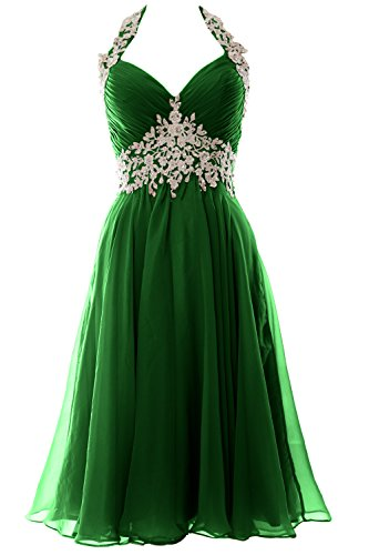 Wedding Short Macloth Prom Homecoming Halter Neck Formal Gown Women Green Dress V qTxxw7A4