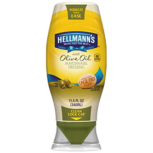 Hellmanns Squeeze Mayonnaise Dressing Olive product image