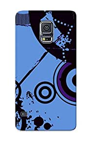 Ellent Design Retro Circles And Paint Splashes Phone Case For Galaxy S5 Premium Tpu Case For Thanksgiving Day's Gift