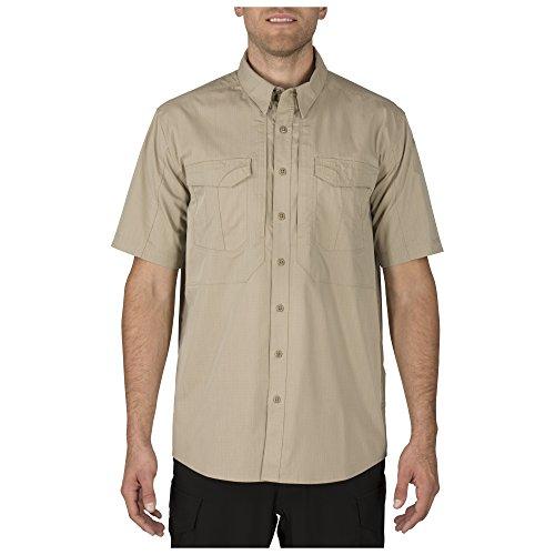 5.11 Camisa profesional con botones de manga corta Stryke Tactical para hombre, tela Flex Tac, estilo 71354