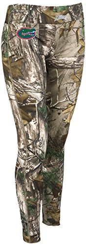 Zubaz NCAA Florida Gators Women's Realtree Xtra Print Team Logo Leggings, Medium, Camo