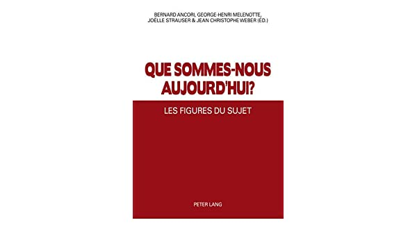 Les Figures du Sujet (French Edition) (French) 1st Edition