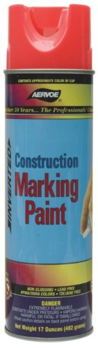 Paint Marking Aervoe (Aervoe 247 12 Pk 17Oz Fluorescent Orange Construction Marking Paint)