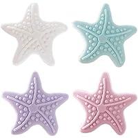 4Pcs/Set Cute Starfish Shape Sticky Door Stopper Luminous Shockproof Crash Pad Anti-crash Safe Wall Protector Home…